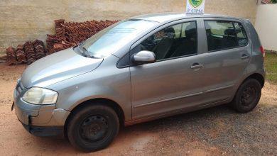 Foto de Polícia Militar recupera veículo furtado em Diamante do Norte