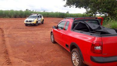 Foto de Polícia Militar recupera veículo roubado em Diamante do Norte