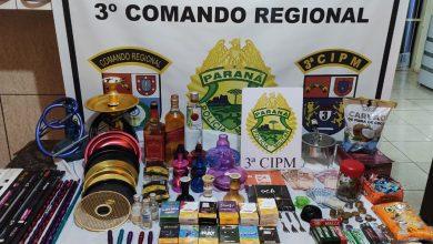 Foto de Polícia Militar recupera objetos furtados de Lan House em Querência do Norte