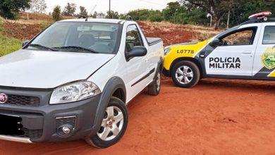 Foto de Polícia Militar recupera veículo roubado em Nova Londrina