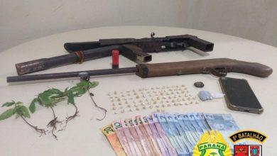 Foto de PM desmantela ponto de tráfico de drogas em Alto Paraná