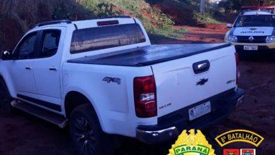 Foto de Polícia Militar recupera veículo roubado em área rural de Nova Esperança