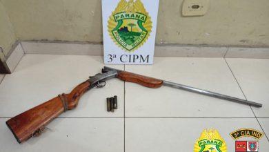 Foto de Homem é preso pela PM por porte ilegal de arma de fogo em Querência do Norte