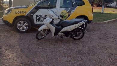 Foto de Polícia Militar recupera motoneta furtada em Loanda